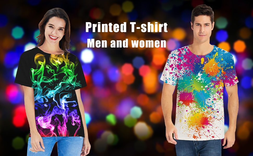 494103a5 Belovecol Unisex Cool Novelty 3D Graphic Print T-Shirts Summer Short Sleeve  Crewneck Tees Casual Tops