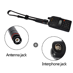 walkie talkie 2 way radios extendable telescopic foldable BNC whip tactical antenna