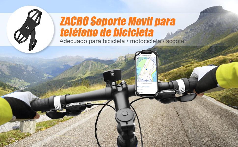 para iPhone 11// Pro MAX//X//XS//XR//XS MAX// 8 Plus Samsung S20//S10//S10e y 4-6.8 Smartphones Motor y Carrito de Bebe Rotaci/ón 360/°Soporte Movil Moto Bicicleta Manillar Zacro Soporte Movil Bici