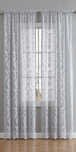 warm home designs curtains sheer panel drape swag sheer voile lace linen scarves see through window