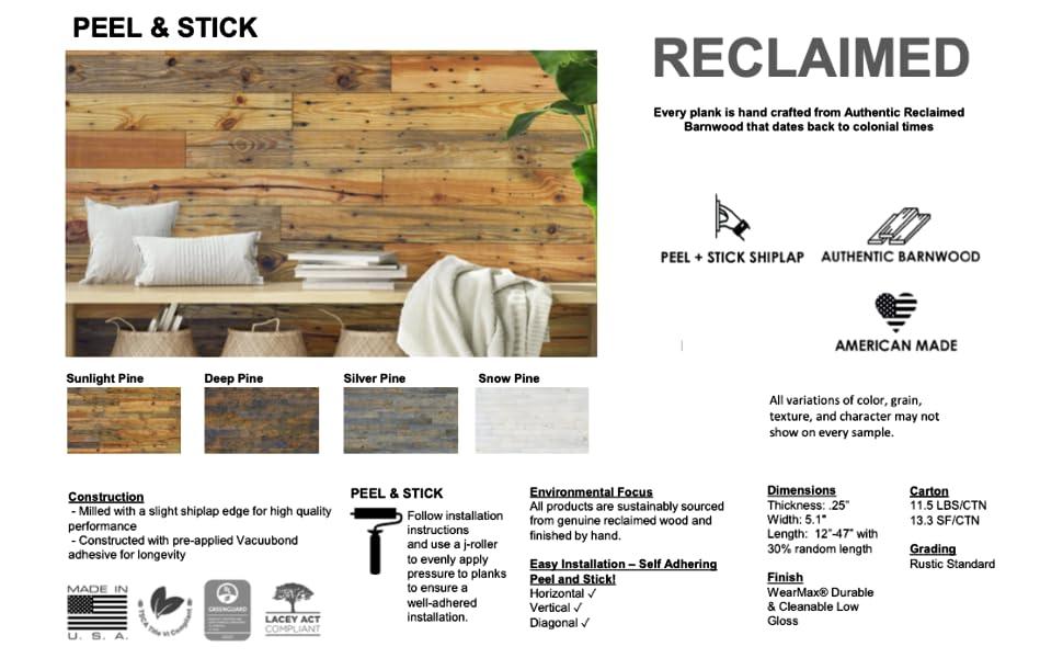 Reclaimed, DIY, Easy Install, Wall Planks, Trim, California