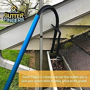 OhhGo Cuchara de limpieza de canalones canalones de techo y hojas herramienta de limpieza para limpiar detr/ás de tragaluces casa canal/ón