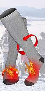 men women heated socks rehargeable battery socks