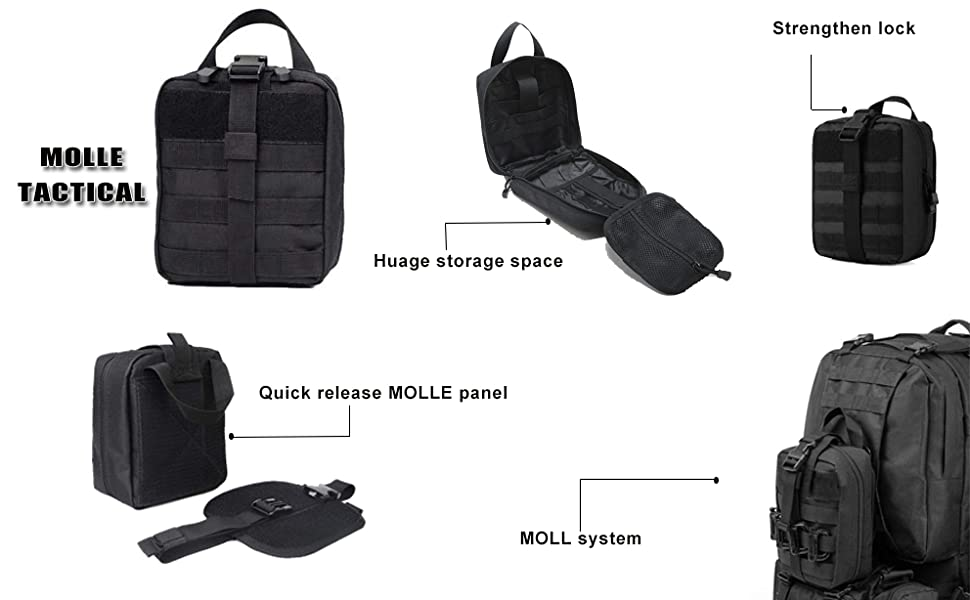 GRULLIN TACTICAL MOLLE POUCH BAG