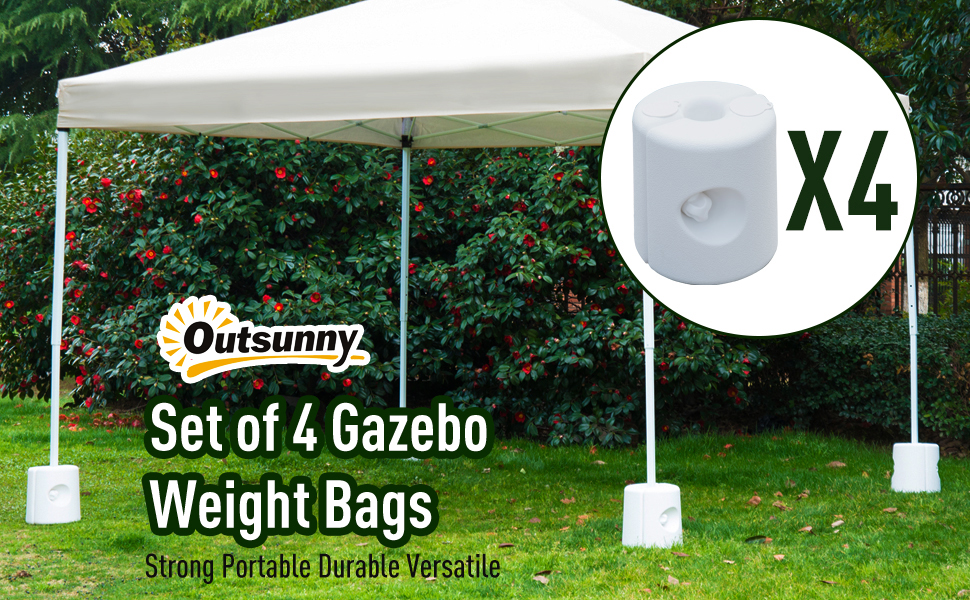New 4pcs White Outdoor Canopy Tent Leg Weights Anchor Stand Gazebos Water Sand