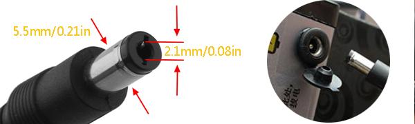 5.5mm, 2.1mm