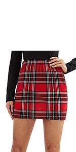 Tartan Print Bodycon Skirt