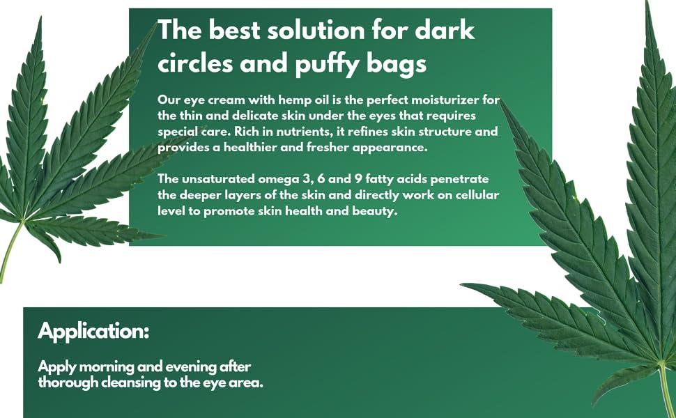 under eye cream with hemp seed oil