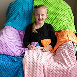 6 color options weighted lap blanket