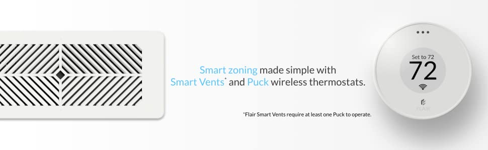 flair puck smart vent zoning thermostat home temperature control airflow air hvac boot register