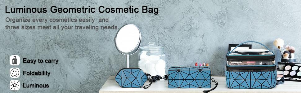 lunminous Geometric Cosmetic Bag
