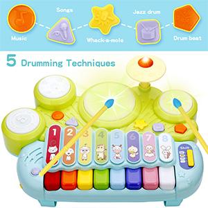Electronic Piano Keyboard Xylophone Drum Set