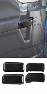 Inner Door Grab Handle Decoration Trim Cover for 2015 2016 2017 2018 Ford F150
