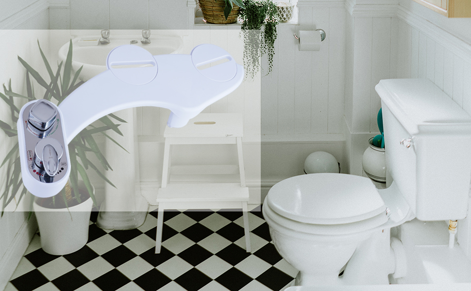 Details about  /Bathroom PP Bidet Seat O Shape Toilets Cover Bidets Attachment 445*360mm USA