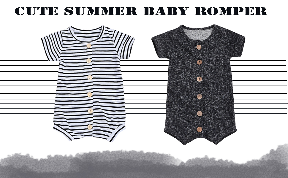 YOUNGER TREE Newborn Infant Toddler Baby Boy Romper Summer Jumpsuit Short Sleeve Clothing Set