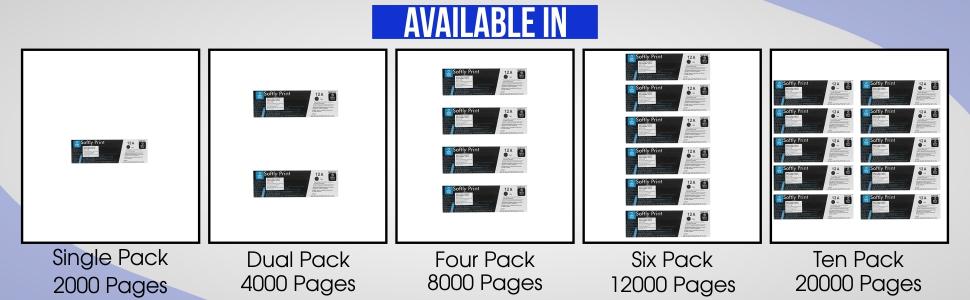 Softly Print 12A Black Toner Cartridge for HP Laserjet 1010/1012/1015/1018/1020/1022/1022n/3020/3030