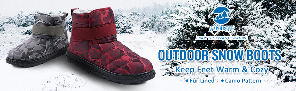 SaphiRose Warm Winter Snow Boots Shoes