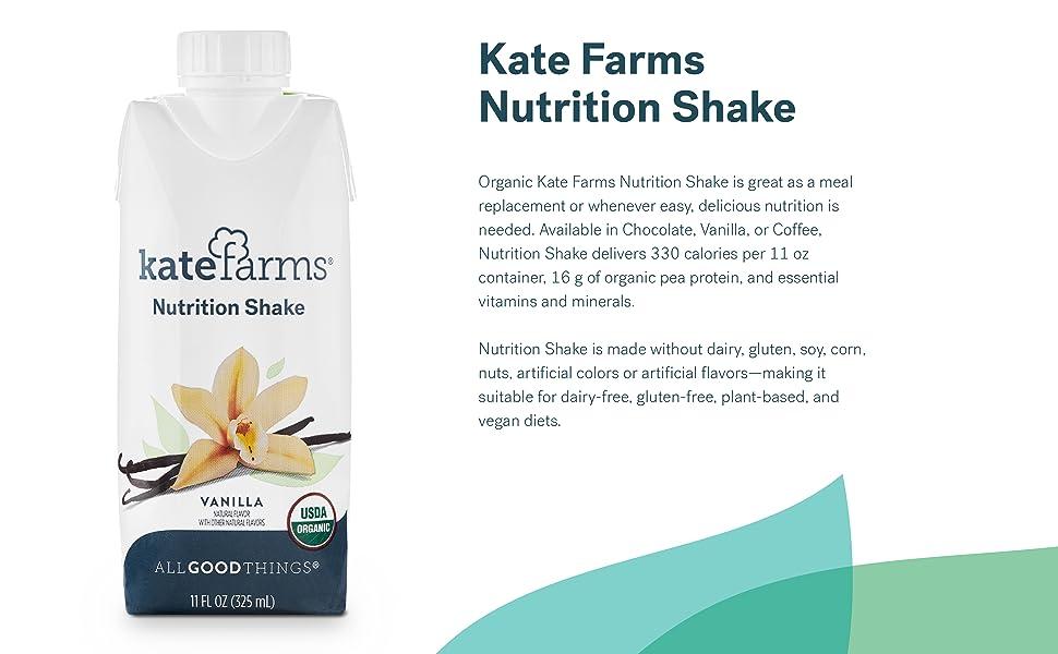 Kate Farms nutrition shake vanilla