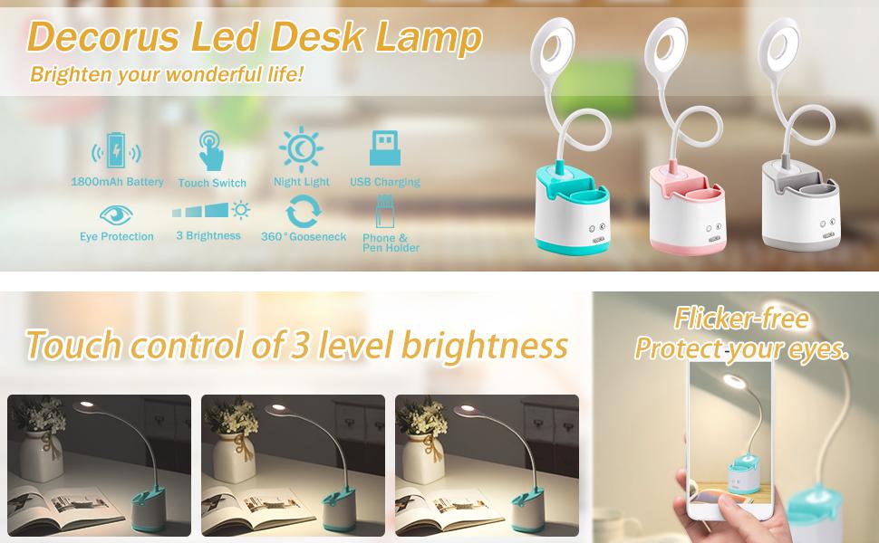 Decorus Led Desk Lamp, Brighten Your Wonderful Life!