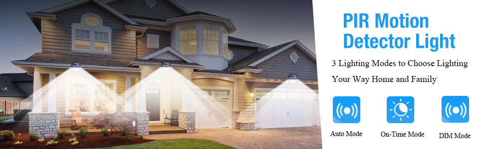 motion lights outdoor solar powered