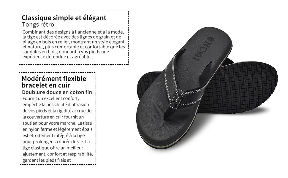 Hommes /ét/é Plage Flip Flop Tongs piscine chaussures