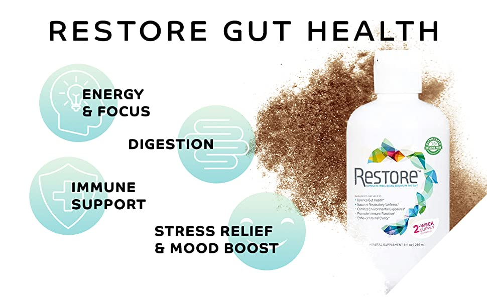 Gut health Supplement Mood Boost Energy Focus Support Digestion Immune System Stress Relief Sleep