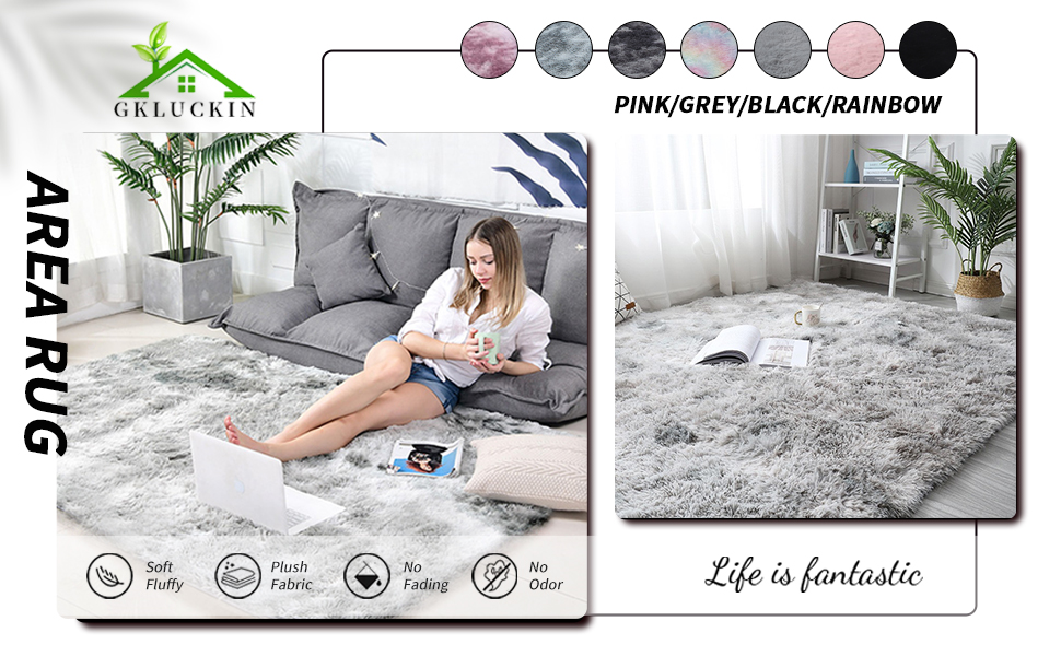 area rug carpet 5x7 4x6 6x9 5by7 5z7 circle 4' round black pink light gray dark grey blush cozy
