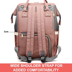 wide shoulder strap of of Motherly Diaper Bag