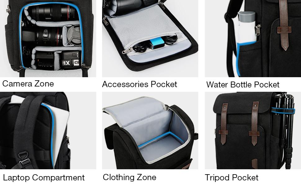 LIXBB Outdoor Product//Fashion Bag Camera Backpack Waterproof Camera Bag Portable Diagonal Bag Camera Bag Shoulder Camera Bag Triangle Bag
