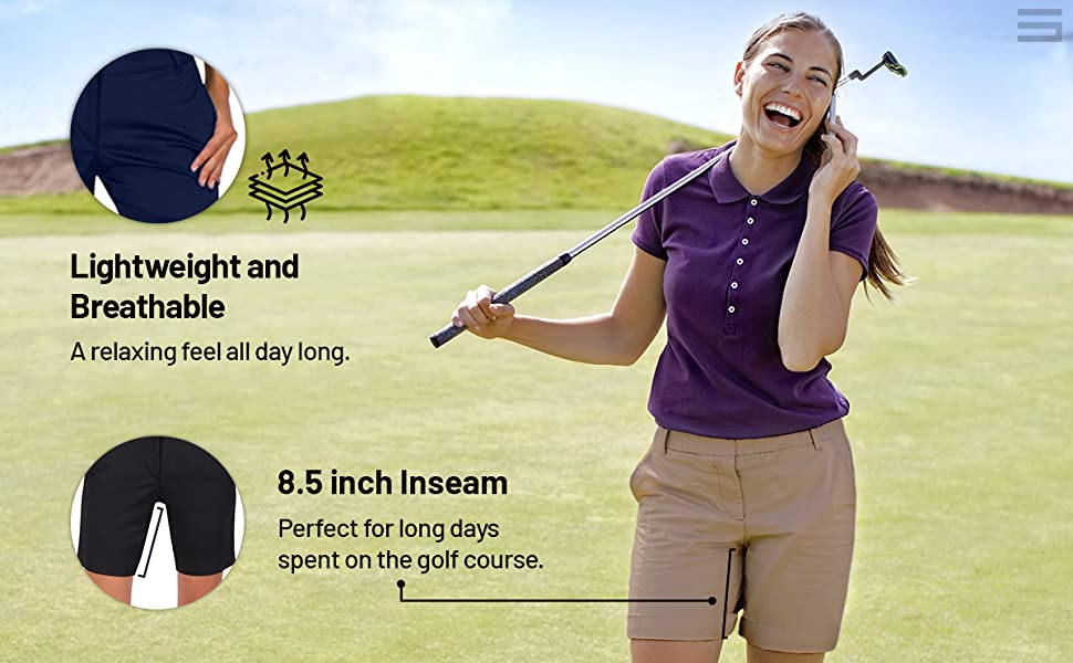 Lightweight and breathable fabric for maximum comfort. Designed with an 8 1/2 inch inseam.