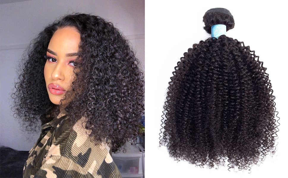 kinky curly human hair bundles