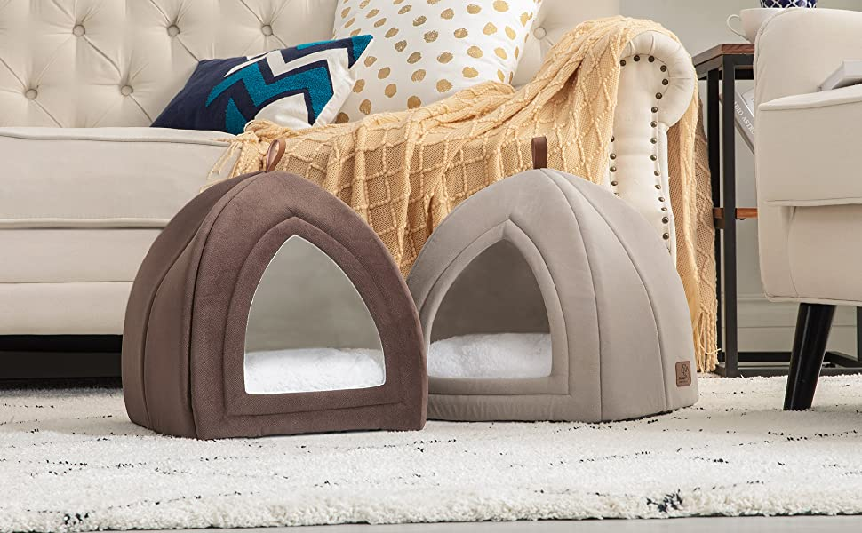 Bedsure Kitten Bed Cave Bed for Cats & Dogs