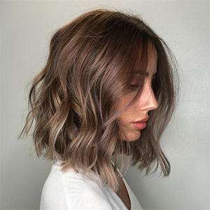 Stufenschnitt für dickes haar