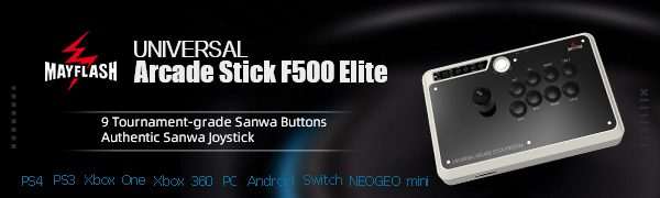 MAYFLASH Arcade Stick F500 Elite with Sanwa Buttons