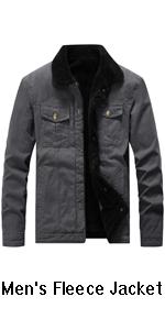Gocgt Mens Cotton Multi Pockets Zip Front Military Jackets Windbreaker Coat