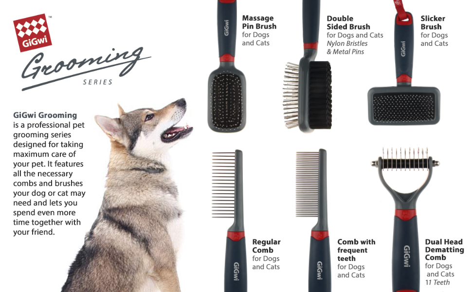 gigwi professional pet grooming tools dogs cats brushes combs dematting