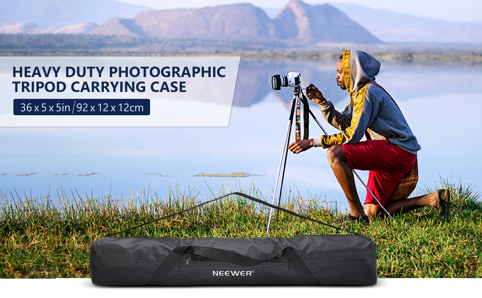 Tripod Boom Stand 92cmX12cmX12cm Heavy Duty Photographic Tripod Carrying Case with Strap for Light Stands Neewer 36x5x5