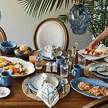 juliska berry and thread chambray ceramic stoneware dinnerware