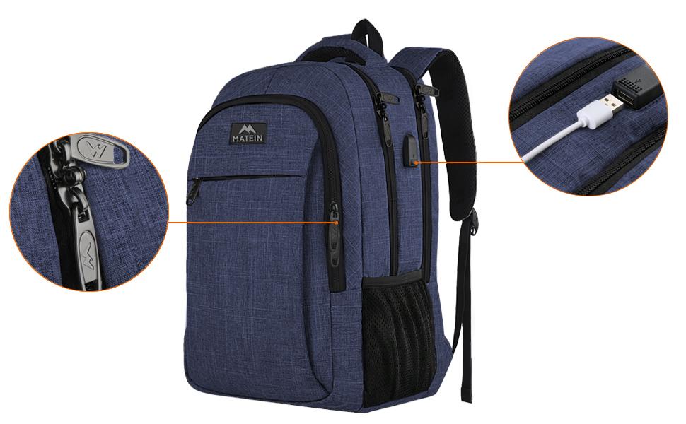 MATEIN sac d'école de 15,6 pouces Garçons Filles Sac d'école Sac à dos pour ordinateur portable