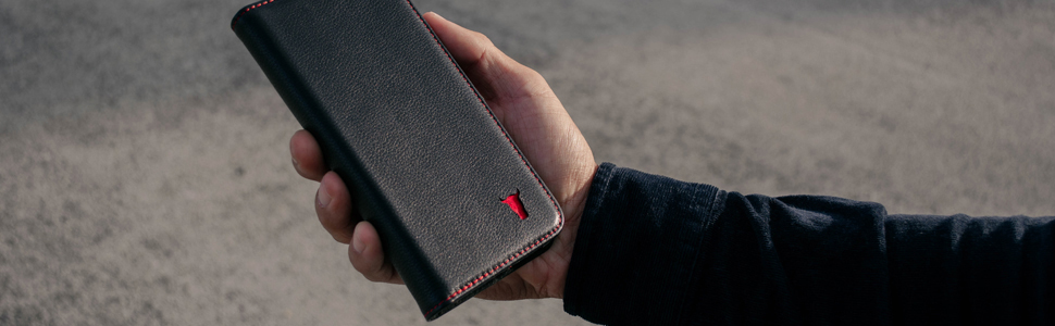 TORRO iPhone Napa leather with red stitching