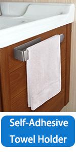Self-adhesive Towel Rack