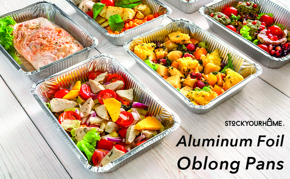 50 Pack Disposable Takeout Containers with Foil Lids – 2 Lb Capacity Aluminum Foil Leftover
