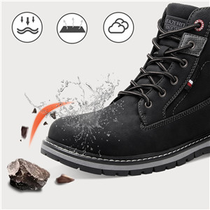Mens Outdoor Water Resistant Hiking Shoes Work Boots Winter Snow Boots for Men