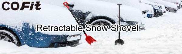 120cm Pala de Nieve de Aleaci/ón de Aluminio Extra Larga y Escalable Estructura de Dise/ño 4 en 1/para Coche COFIT 110cm Acampada al Aire Libre y Jard/ín