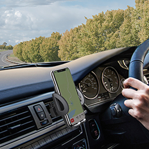 mobile phone holder for car will keep the phone secure in place without blocking your line of sight.