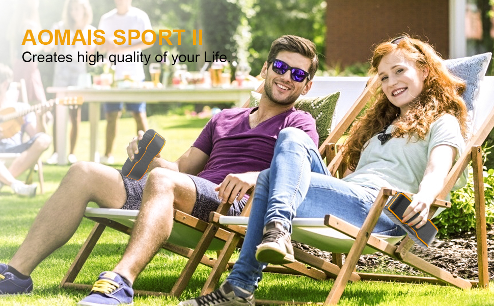 22  AOMAIS Sport II Portable Wireless Bluetooth Speakers 20W Bass Sound, 15H Playtime, Waterproof IPX7, Stereo Pairing, Durable Design Backyard, Outdoors, Travel, Pool, Home Party Orange 5dab9121 c7bd 4218 b13e c13142be4b6a