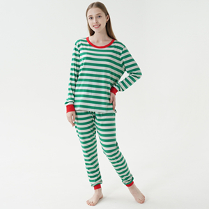 Green Striped PJs for Mom