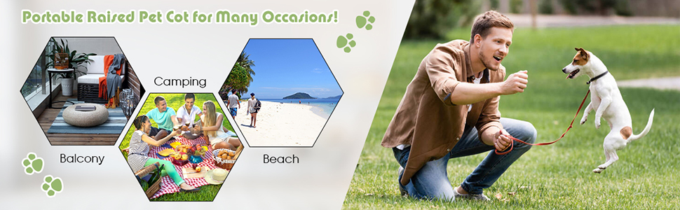 Dog Bed for Camping Beach Lawn
