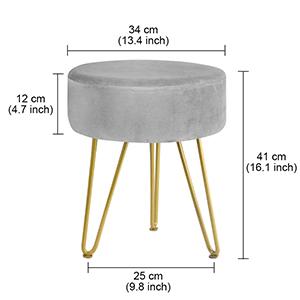 metal leg foot stool ottoman footrest