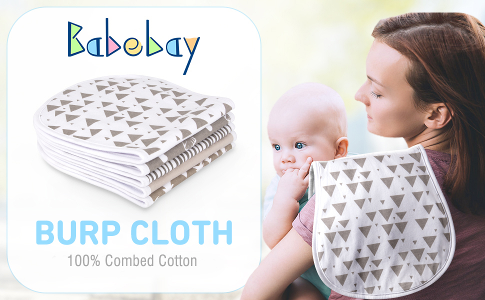 Baby Kisses Baby Burp Cloth Baby Shower Gift Baby Gift Diaper Burp Coth,Clothing Protector Infant Burp Cloth Gender Neutral Burp Cloth
